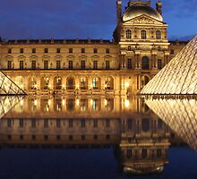 Louvre Reflections by Elena J