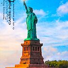 Lady Liberty Lifts Her Light - Statue of LIberty by Mark Tisdale