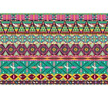 Aztec geometric seamless  colorful pattern Photographic Print