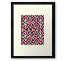 Aztec geometric colorful pattern Framed Print