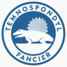 Temnospondyl Fancier Tee (Blue on White) by David Orr
