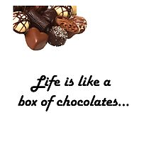 Forrest gump, Life is like a box of chocolates design :) by heidilauren27