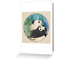 Panda Love Greeting Card
