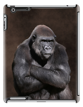 Gorilla with Attitude iPad Case