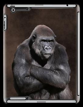 Gorilla with Attitude iPad Case