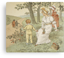 Walking to Mousey's Hall Canvas Print