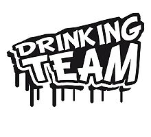 Drinking Team Comic Cartoon Graffiti by Style-O-Mat