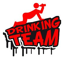 Drinking Team Cartoon Comic Graffiti by Style-O-Mat