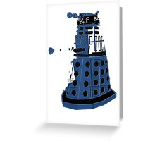 Tardis Dalek  Greeting Card