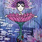 Girl Quirky Lotus by Sarah Baron