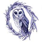 Sooty Owl Indigo by ThistleandFox