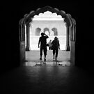 Agra Old Fort Silhouette by John Dalkin