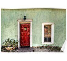 Red Door and Window Poster