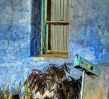 Blue Stucco Window by Ken Smith