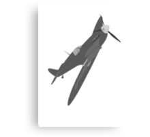 Sliver Spitfire Canvas Print