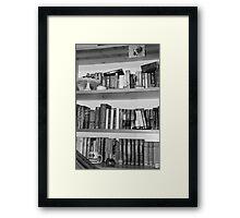 Books are best friends II Framed Print