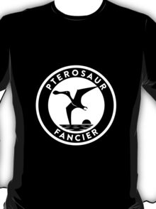 Pterosaur Fancier Tee (White on Dark) T-Shirt