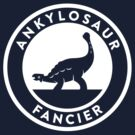 Ankylosaur Fancier Tee (White on Dark) by David Orr