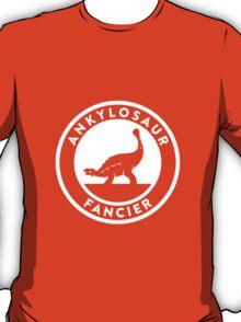 Ankylosaur Fancier Tee (White on Dark) T-Shirt