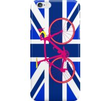 Bike Flag United Kingdom (Blue) (Big - Highlight) iPhone Case/Skin