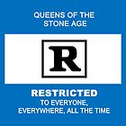 Queens of the Stone Age Rated R Pillow by AluminiumEagles