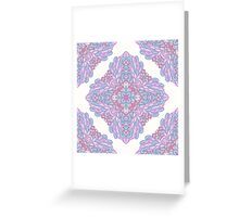Violet ornamental floral design Greeting Card