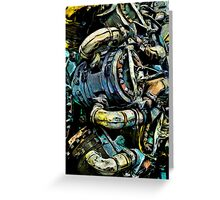 The Battered Engine Greeting Card