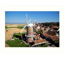Cley Windmill - Unusual Aeriel shot Art Print