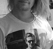 Macaulay Culkin wearing Ryan Gosling wearing Macaulay Culkin shirt Sticker