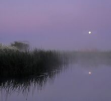 Moon over Water  by James  Key