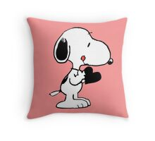 Heart of Snoopy  Throw Pillow