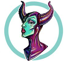 Lady of the Dark – Maleficent by Sam Pea