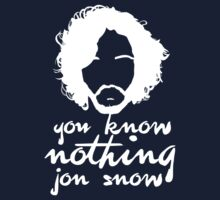 You know nothign Jon Snow (Black) by ShirThrones