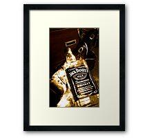 Whiskey too boot Framed Print