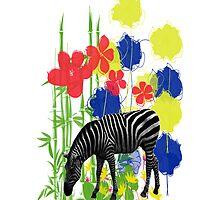 Zebra. Throw Pillow. by Vitta