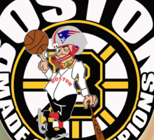 Boston made of champions with banners Sticker