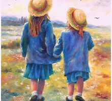TWO SISTERS HAND IN HAND by VickieWade