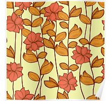 Orange flowers Poster