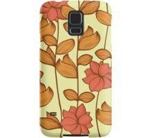 Orange flowers Samsung Galaxy Case/Skin