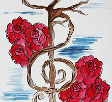 Music Note Tree by LASartsdesigns