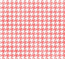 Houndstooth - pink by pikedesign