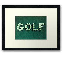 Golf Balls #2 Framed Print