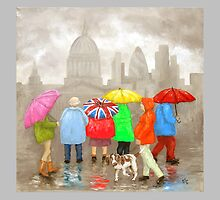 "Artwork 1422 ""Summer Sightseeing, St Pauls"" by Paul Chambers"