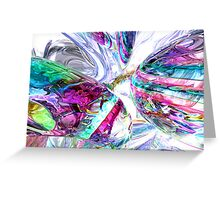Lightning Prism Abstract Greeting Card
