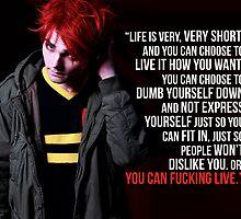 Gerard Way Quote #5 by xdangerline