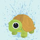 Turtle - Blue Splash by Adamzworld