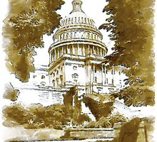 Capitol Building, Washington, USA in 1911 by Dennis Melling
