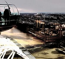 London Eye View To The Houses Of Parliament by Ian Mooney