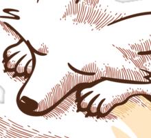The fox is sleeping Sticker