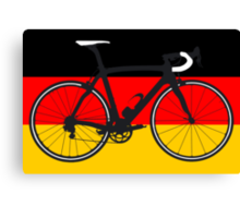Bike Flag Germany (Big - Highlight) Canvas Print